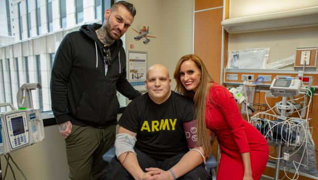 Dana Warrior and Corey Graves visit Walter Reed National Military Medical Center: photos