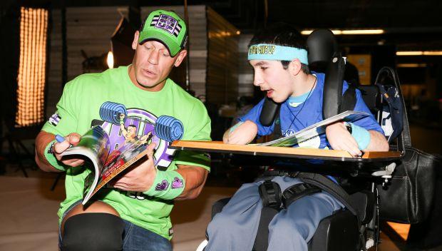 John Cena grants Eyad's wish in San Jose: photos