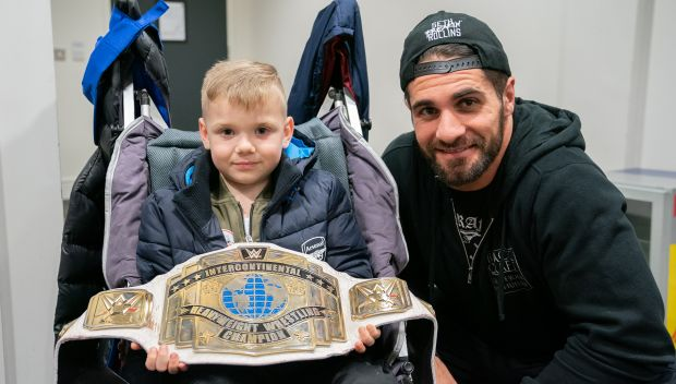 Seth Rollins grants wishes in Leeds, England: photos