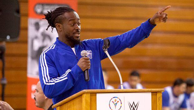 Kofi Kingston and Cameron coach a Special Olympics Unified Basketball Game: photos