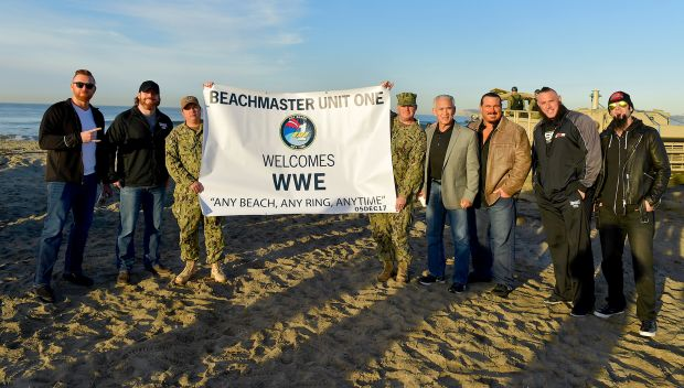 WWE Superstars visit the U.S. Navy's Beachmaster Unit One at Naval Air Station North Island: photos