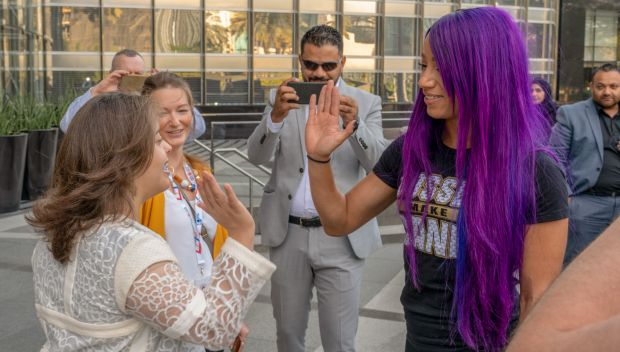Sasha Banks visits Burj Khalifa to promote Special Olympics World Games 2019: photos