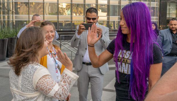 Sasha Banks visits Burj Khalifa to promote Special Olympics World Games 2019: photos