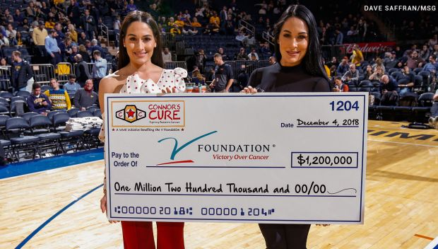 Bella Twins present Connor Cure's donation to The V Foundation: photos