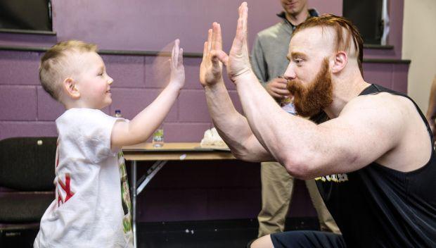 Sheamus meets Max in Dublin: photos