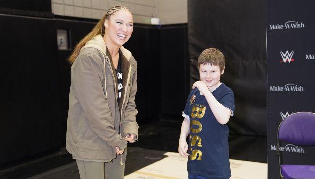 Ronda Rousey grants Ryan's wish: photos