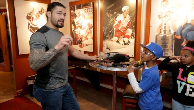 Roman Reigns grants wish in Detroit: photos