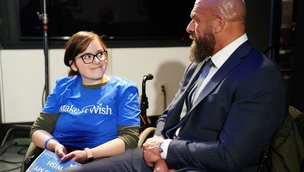 Triple H grants Faith's wish: photos