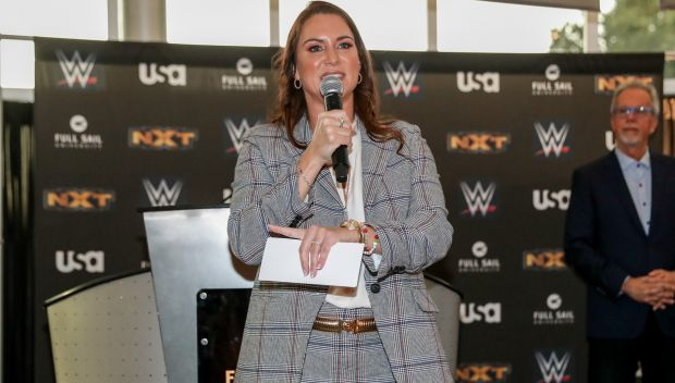 Stephanie McMahon presents scholarships to Full Sail University students: photos
