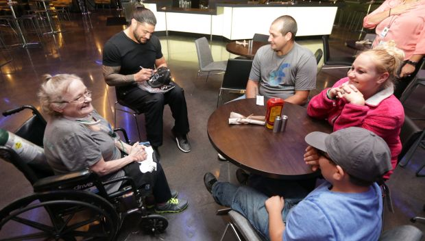 Roman Reigns grants a wish in Indianapolis: photos