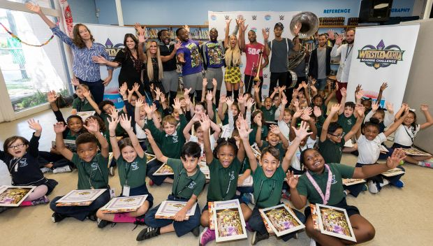 WWE and First Book host a WrestleMania Reading Celebration in New Orleans: photos
