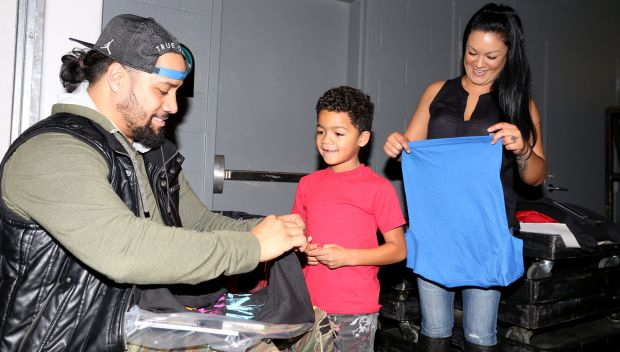 Jimmy Uso grants Andrew's wish: photos