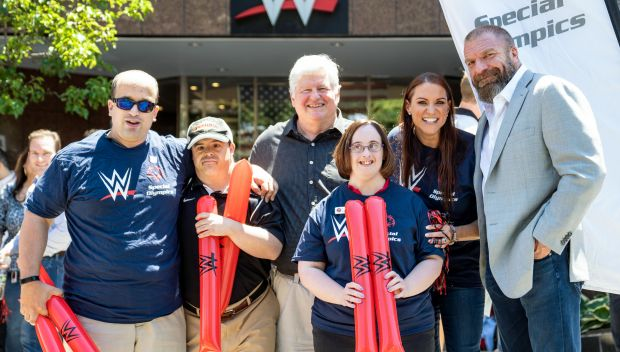 Special Olympics Connecticut Law Enforcement Torch Run passes WWE HQ en route to the Summer Sports Series: photos