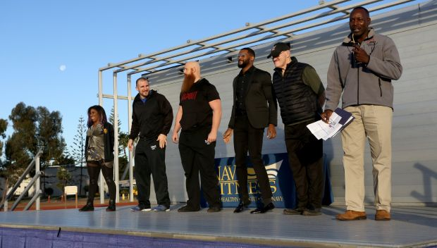 WWE Superstars lead a PT session at Naval Base San Diego: photos
