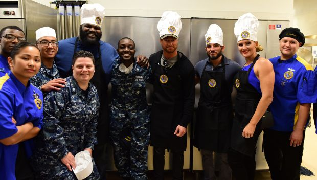 WWE Superstars visit culinary specialists at Naval Air Station North Island: photos