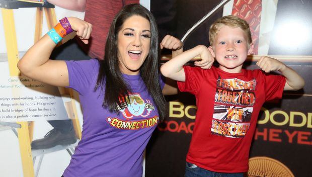 Superstars meet pediatric cancer survivors backstage at Raw in partnership with Hyundai: photos