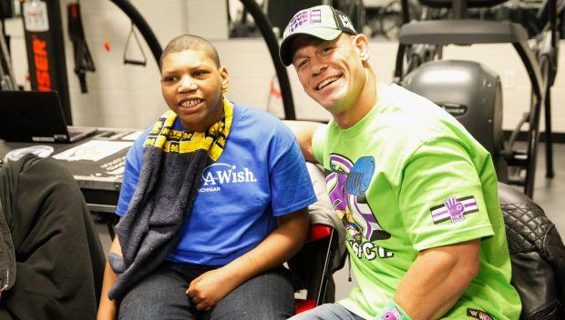 John Cena grants Jamar's wish in Detroit: photos