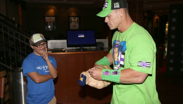 John Cena grants wishes in Dallas: photos