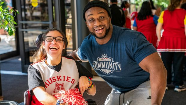 WWE Superstars host Special Olympics Unified Basketball Game in Chicago: photos