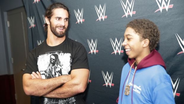 Seth Rollins and Roman Reigns grant wishes in Tampa: photos