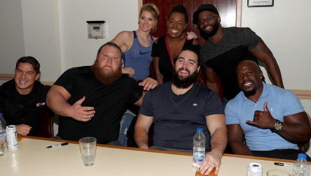 WWE Superstars visit a U.S. military base in Saudi Arabia: photos