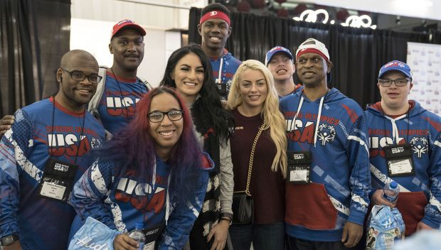 Mandy Rose and Sonya Deville send off Special Olympics USA Athletes to the World Games in Abu Dhabi: photos