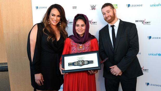 Sami Zayn and Nia Jax at the Beyond Sport Global Awards: photos