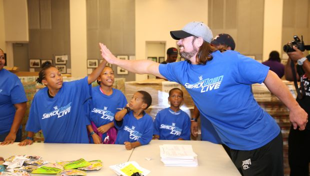 WWE joins Houston Food Bank's Tag Team for Hunger: photos