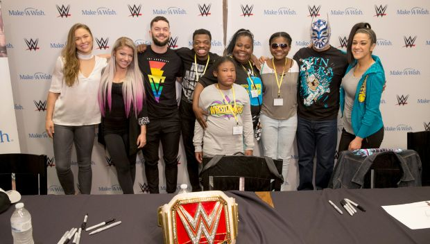 Superstars meet Make-A-Wish kids during WrestleMania Week in New Orleans: photos
