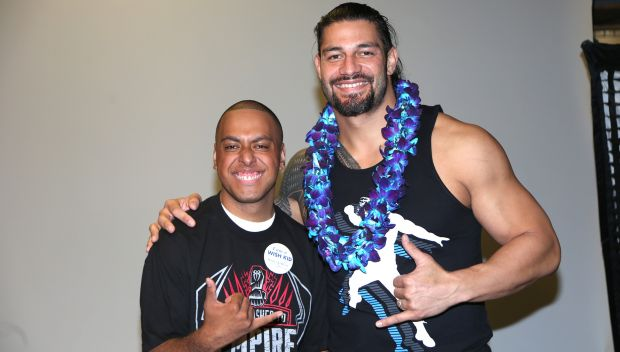 Roman Reigns grants a wish in San Jose: photos