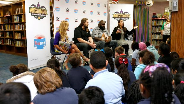WWE and First Book host a Reading Celebration at Harold Keller Elementary School: photos