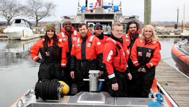 WWE Superstars team with the U.S. Coast Guard for a boat demonstration: photos