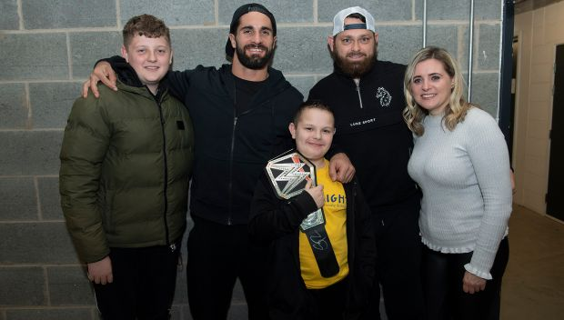 Seth Rollins grants wishes in Leeds, UK: photos