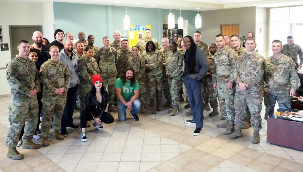 WWE Superstars visit servicemembers at the Carl R. Darnell Medical Center and Warriors in Transition Operations Facility: photos