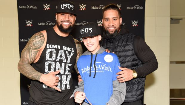The Usos grant Alec's wish in Louisville: photos