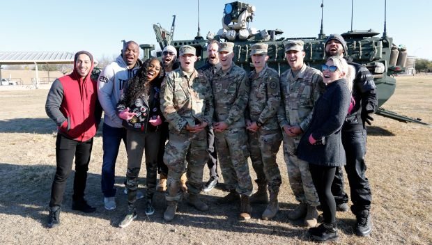 WWE Superstars tour the motorpool at Fort Hood, Texas: photos