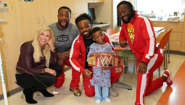 Charlotte Flair and The New Day visit Phoenix Children's Hospital: photos