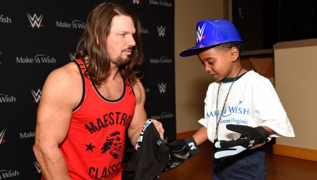 AJ Styles grants Tristian's wish in Pennsylvania: photos