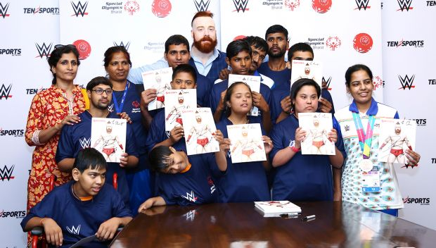 Sheamus meets Special Olympics Bharat Athletes in India: photos