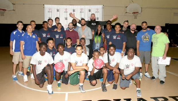 Superstars host a Special Olympics Unified Basketball Game during SummerSlam Week: photos