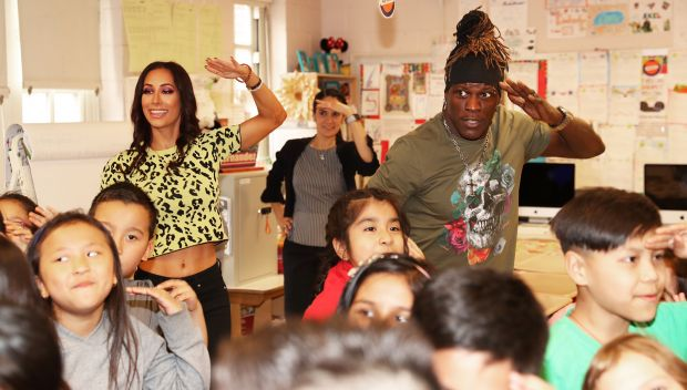 WWE hosts a WrestleMania UNICEF Kid Power Challenge event: photos