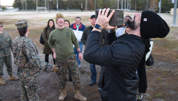 Roman Reigns and Dana Brooke test their mettle with U.S. Marines: photos