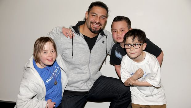 Roman Reigns grants wishes in Christchurch, New Zealand: photos