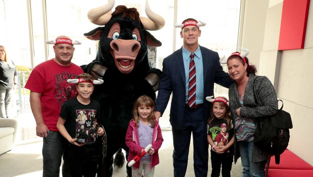 "John Cena grants wishes following a ""Ferdinand"" screening in Los Angeles: photos"