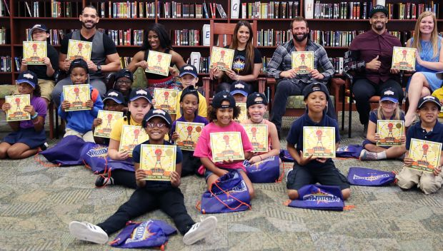 WWE Superstars host a WrestleMania Reading Challenge in Orlando: photos