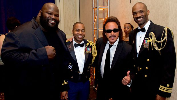 Mark Henry and Jimmy Hart at USO Metro's 33rd Annual Awards Dinner: photos
