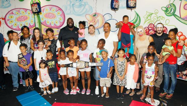 Superstars visit New York City children's hospitals to kick off SummerSlam Week: photos