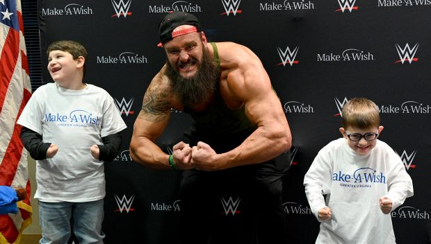 Braun Strowman grants wish in North Carolina: photos