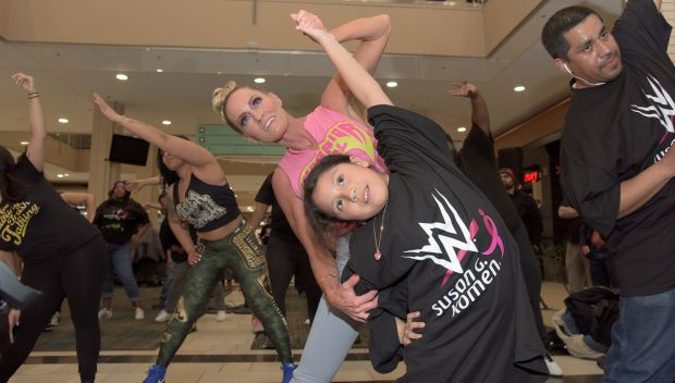 WWE hosts a Zumba class benefiting Susan G. Komen during WrestleMania Week: photos