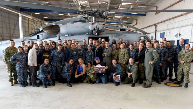 WWE Superstars tour Seahawk helicopters at Naval Air Station North Island: photos